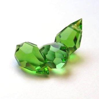 10pcs peridot verde cristal facetado cuentas en forma de lágrima Br