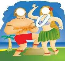 Pappaufsteller Hawaii Couple 'Stand In' Standup Figur Kinoaufsteller Pappfigur Cardboard Lebensgroß Life-Size Standup (Pappe Standups Lifesize)