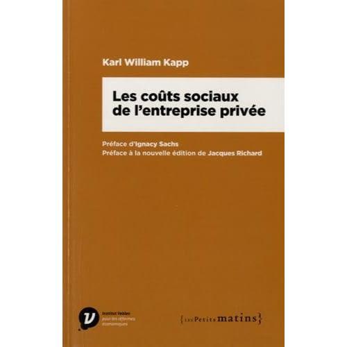 Les Coûts sociaux de l'entreprise privée