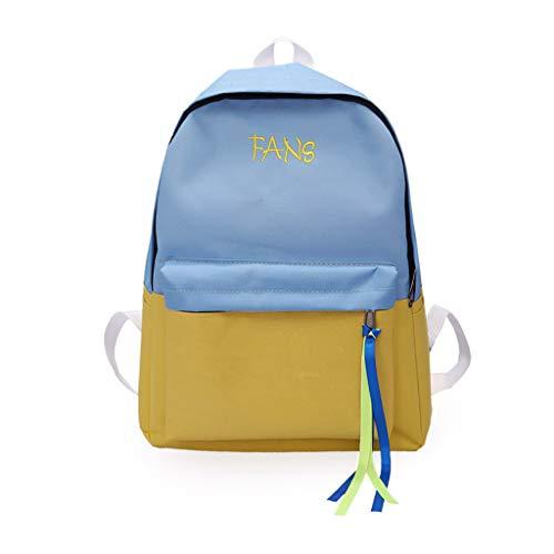 Yazidan Damen Rucksack Frauen Big Bag Lässig Reiserucksack Studententasche Wilder Rucksack Mädchen Wilder Rucksack der zufälligen Reiserucksack-Kuriertasche der großen Tasche