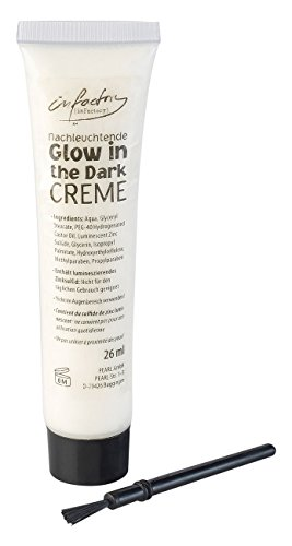 infactory Halloween-Make-Up: Nachleuchtende Glow-in-the-dark-Creme, 26 ml (Tube für (Für Halloween Make Up Dunkle)
