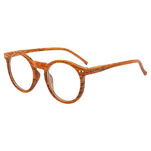 Xinvision Round Vintage Optische Brillen Holz Dekobrille Nerdbrille Transparente Linse Klassisches...