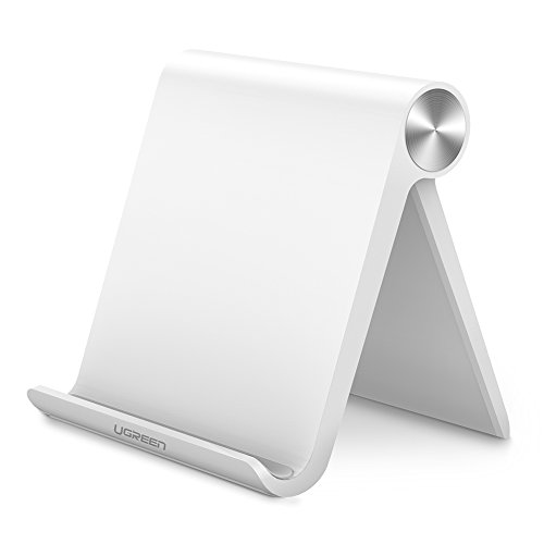 UGREEN Handy Ständer Phone Stand Multi Winkel ipad Ständer verstellbar Tisch Halterung für iPhone X/8 plus/7/6/6/5s, Samsung Galaxy Tab /S8/Note 8,Huawei, iPads max.7 Zoll, Nexus,MP3 Weiß (Stand Handy)