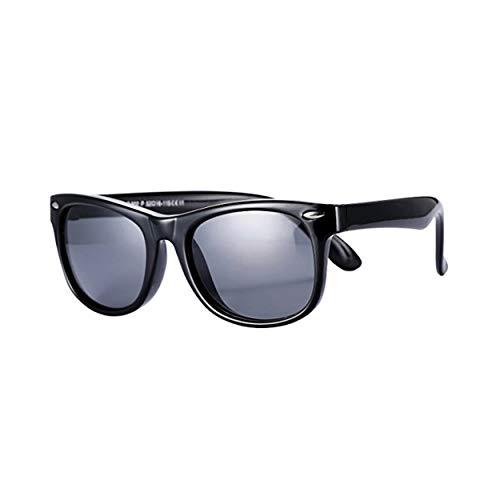 FOURCHEN FOURCHEN Kleinkind Sonnenbrille, 100% UV Proof Flexible Baby Sonnenbrille für Kinder (black)