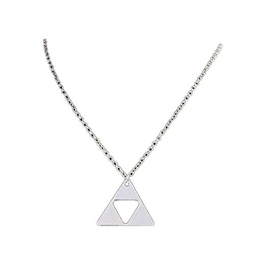 Sunnywill Frauen Dreieck-Legende von Zelda Triforce Kostüm Metall Anhänger Halskette für Damen Mädchen ()