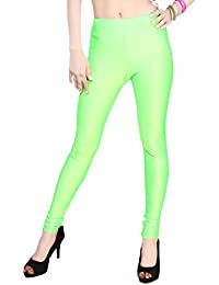 Comix Women Cotton Lycra Fabric Comfort Fit Ankle Length Plain Leggings (Light Green,XXXL)