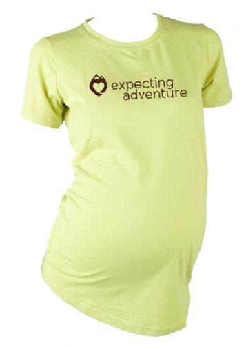 Mountain Mama Damen erwarten Adventure Schwangerschafts Logo Tee grün - spring green