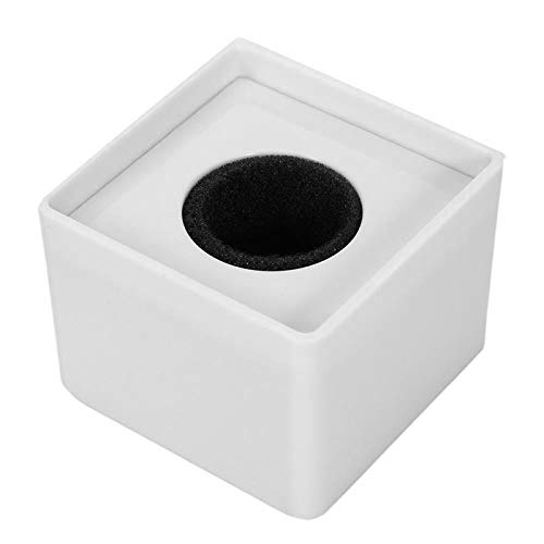 Hochwertiges 38 mm Loch TV Crew Interview Mikrofon quadratisch Cube Form Logo Fahne Station ABS Material weiß