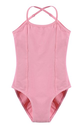 Arshiner Kids Girl's Ballet Sleeveless Adjustable Strap Leotard Double Slim Solid