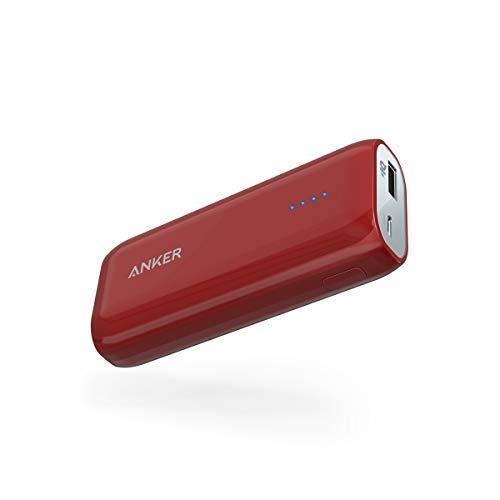 Anker Powerbank Astro E1 6700 mAh Externer Akku, Extrem Kompaktes USB Ladegerät mit PowerIQ für iPhone 7 7+ 6s 6 Plus SE, iPad, Samsung Galaxy und Weitere Smartphone - Rot