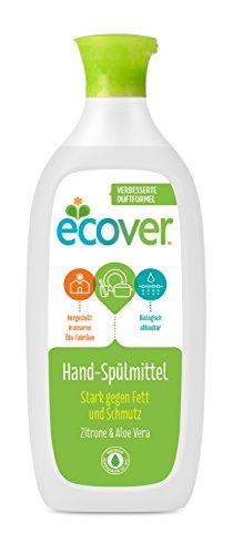Ecover Ökologisches Geschirrspülmittel Zitrone und Aloe Vera, 500 ml