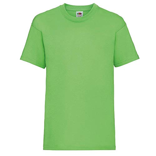 Fruit of the Loom - Kinder T-Shirt \'Valueweight T\' / Lime, 128