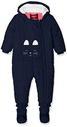 s.Oliver RED LABEL Unisex - Baby Winter-Overall mit Hasenmotiv navy 80