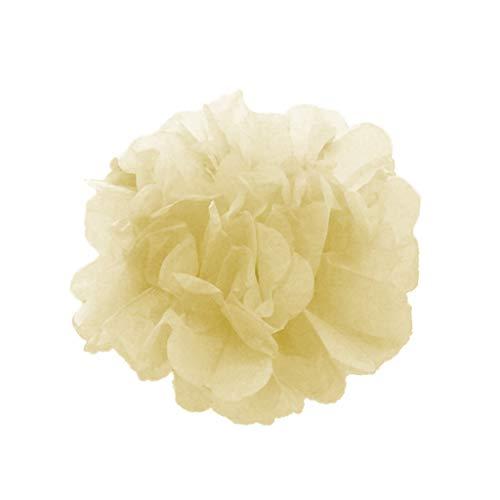 Y Seidenpapier Pompoms Blumen Hängende Papierblumen für Hochzeitsdekoration Party Geburtstag Weihnachten Zimmer Abschlussfeier Dekor (10 Zoll, Weiß) ()