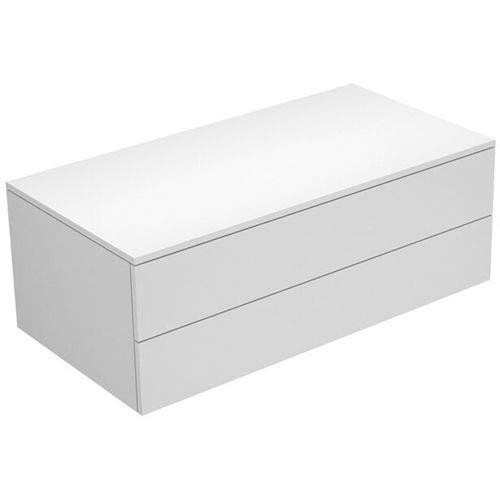 Keuco Sideboard 31752840000 Edition 400 weiß hochglanz/Glas cashmere klar 2 Auszüge Keuco