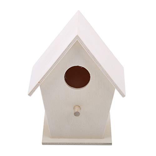 SEVENHOPE Maison en Bois D'Oiseau Bricolage Artisanat Bois en Bois Naturel Finition Naturelle Suspendu Maison (Style 1)