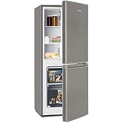 Klarstein Big Daddy Cool 100 • Combi réfrigérateur-congélateur • Réfrigérateur 73L • Congélateur 33L • 106 litres en tout • régleur de température • Inox