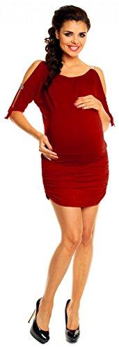 Zeta Ville - maternité - robe - tunique grossesse - à manches 3/4 - femme - 157c Cramoisi