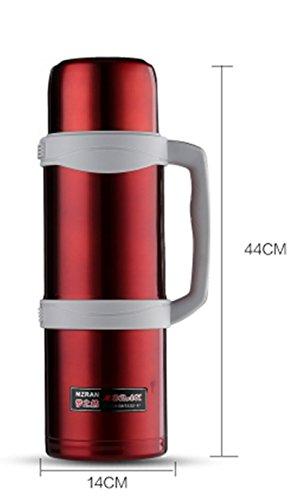 Doppel-isolierte Stecker (Großes Fassungsvermögen 4Liter isoliert Topf Doppel-Edelstahl Outdoor Home Auto Warm Wasserkocher Stecker Reisen Sie Isolierung Cup)