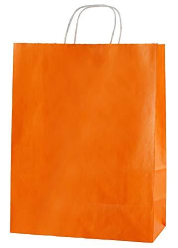 (Thepaperbagstore 25 Orange Drehgriff Papiertragetaschen 250 x 110 x 310mm - Wählen Sie Ihre Größe und Farbe)