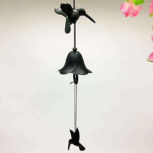 WANGBASS Idyllic Wind Hummingbird Cast Iron Wind Chimes Metal Hanging Ironware Southern Wind Bell Home Decorations -
