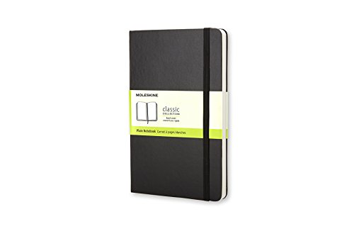 Moleskine Taccuino Notebook Classic, Medium,  Pagine Bianche, Nero