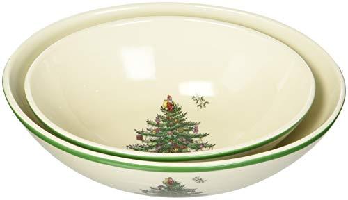 Spode Weihnachtsbaum Christmas Tree Oval Nesting Bowls mehrfarbig Oval Nesting Bowls