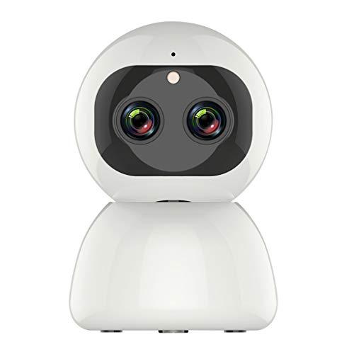 WiFi-Kamera happy event Dual Lens Zoom-Kamera CCTV-Sicherheit PTZ-Camcorder 1080P 8MP, 360-Grad-Drehung, 2-Wege-Audio, Fernalarm, Bewegungserkennung, Mobile App-Steuerung als Baby- / Haustiermonitor