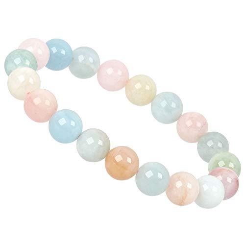 PowerBead Edelstein Perlen Armband 10mm mit Multicolor Beryll für Damen