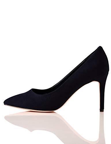 find. Wide Fit Point Court Shoe Scarpe col Tacco Punta Chiusa, Blu Nave), 37 EU