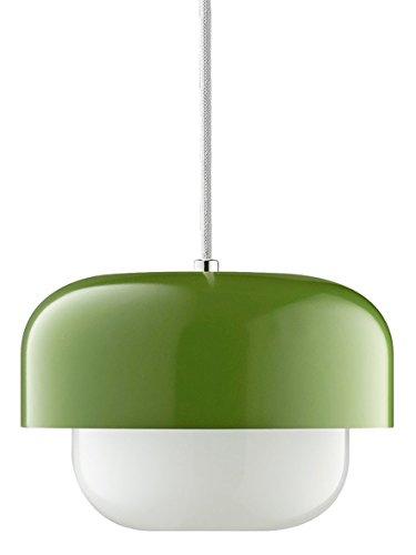 Skandinavische Pendelleuchte Metall mit Opalglas Haipot Matcha Hellgrün Ø: 23 cm