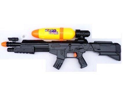 XXL Wasser-Pistole Kinder-Spielzeug Schwarz Gelb Wasser-Spritze Sommer-Spielzeug Spielzeug-Pistole Wasser-Gewehr Aqua-Gun Pool-Kanone Planschbecken-Pistole Garten-Party Spielzeug-Waffe Swimming-Pool-Gun -