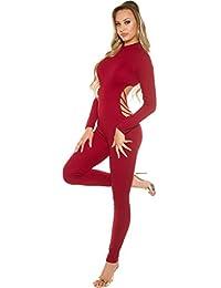 c7d526dd366f0f Firstclass Trendstore sexy Langarm-Overall mit Rücken Cut-Out * S M L XL *  Catsuit Jumpsuit Bodysuit figurbetont…