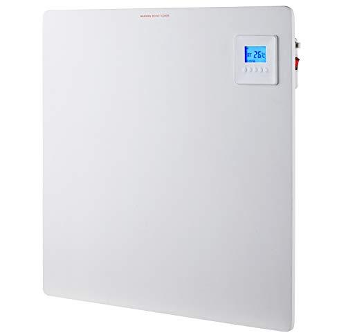 Infrarotheizung Wandheizung Heizung Heizpaneel mit Timer und LCD Display. Digital Infrarot Heizung Heizkörper Inkl.Standfüßen DMS® (60 x 60 x 1 cm 425 Watt)