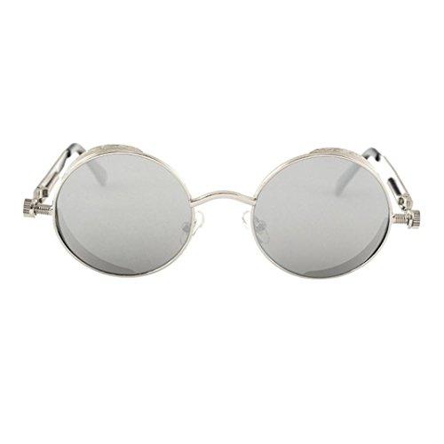 Btruely Unisex Sonnenbrille Round Sommer Fahrbrille Polarisierte Sonnenbrille Mode Glasses Nachtsichtbrille Fahrbrille Mode Klassische Sportbrille Brillen Jahrgang Gespiegelt Sonnenbrille (D)