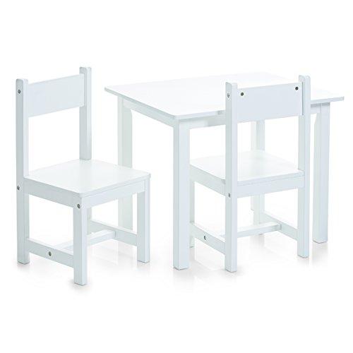 zeller-set-di-tavolino-e-sedie-per-bambini-3-pz-bianco-weiss-dimensioni-tavolo-59-x-47-x-45-cm-dimen