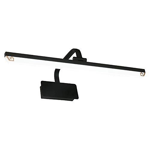 Mogicry Chinesischen Stil Schwarz LED Rechteck Spiegel Scheinwerfer Moderne Wasserdichte Anti-Fog Badezimmerschrank Lampe Kreative Dekoration Energiesparende Schminkspiegel (Color : 14W-72CM-3000k)