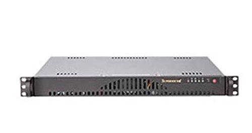 Super Micro CSE-512L-260B 1U Server Gehäuse (ATX, 260 Watt Stromversorgung) schwarz