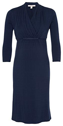 Esprit Maternity O84273 - Robe - maternité - Femme Bleu - Blau (Rich Navy 440)
