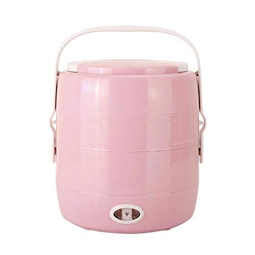 Portátil de una/dos capas Calefacción eléctrica Caja de almuerzoOlla arrocera Vapor Calentador de alimentos Contenedor Caja térmica Contenedor de alimentos
