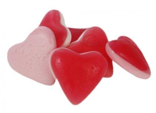 Fruchtgummi Love Herzen mit Schaumboden Menge:1000g