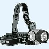 Crivit Sports LED Stirnleuchte -Druckschalter für 2 Helligkeitsstufen und Blinkmodus durch 2 zusätzliche LED´s (rot)