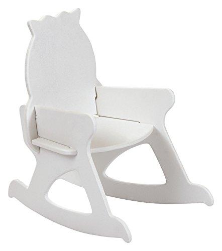 ROOM STUDIO–Silla Mecedora para niños Madera, Madera, Blanco, 49x46x35 cm