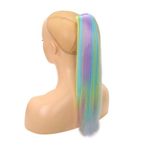 TianWlio Perücken DamenKlaue Auf Pferdeschwanz Clip in Haarver Längerungen Gerade Gerade Langes Haarstück