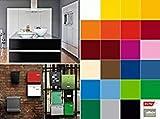 Selbstklebende Folie Tapete Klebefolie für Möbel Küche Tür & Deko versch. Unifarben matt & Glanz Möbelfolie Küchenfolie Dekofolie Selbstklebefolie grün hellgrün - Uni matt Apple 15m x 67,5cm