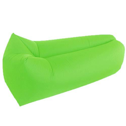 LIXIATIAN Outdoor wasserdicht und atmungsaktiv Lazy Couch einzelne tragbare aufblasbare Sofa Nickerchen Luftmatratze Luftmatratze (Color : Green)