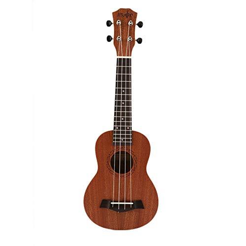 ZengBus 21 Pollici Soprano Acustico Ukulele Chitarra elettrica 4 Corde Ukelele Guitarra Artigianale Legno Bianco Chitarrista Mogano Plug-in Caldo - Marrone