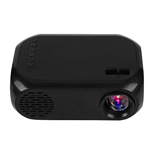 ASHATA Mini Beamer, HD Beamer Videobeamer Tragbar Multimedia Heimkino Projektor,Portable LED Projektor Multifunktion Projektor,Unterstütztung USB HDMI AV TF SD Karte U Festplatte EU-Stecker(Schwarz) - Tragbar Multimedia-projektor