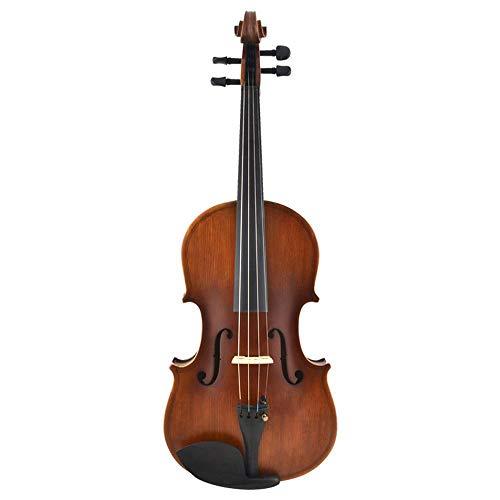 North King Geige Fir Panel Material Massive Holz antike Violine konzipiert für Kinder und Erwachsene Instrument für Anfänger zum üben