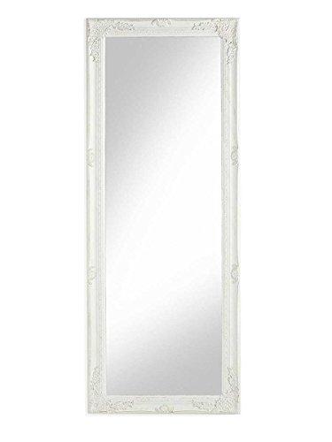 Espejo-de-pared-con-marco-rectangular-de-madera-blanco